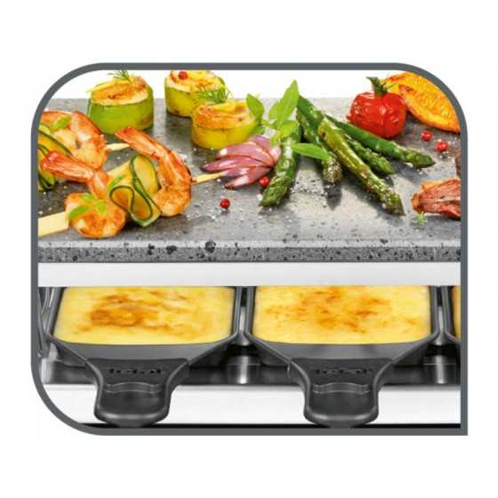 TEFAL Appareil convivial raclette + pierre à griller