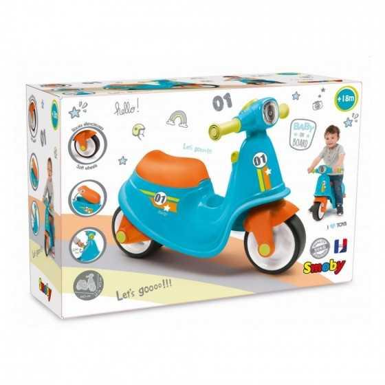 SMOBY Porteur scooter bleu