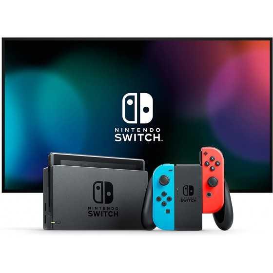 Nintendo Switch avec paire de Joy-Con Rouge Néon et Bleu Néon