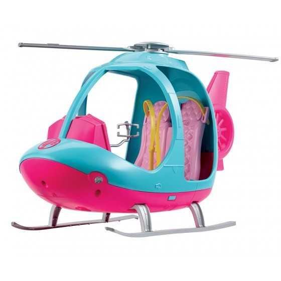 BARBIE - Voyage Hélicoptère rose et bleu