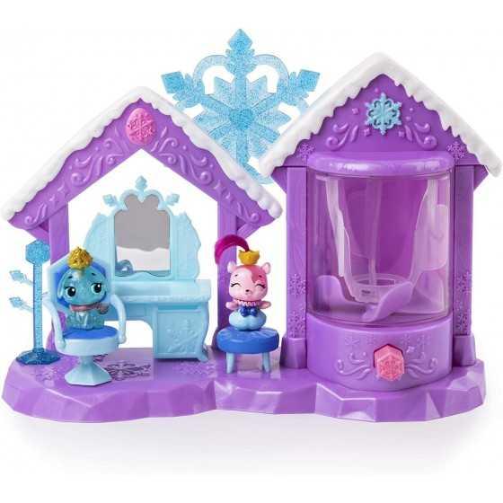 HATCHIMAL Coffret de jeu Salon de Beauté étincelant avec 5 figurines exclusives famille royale + accessoires