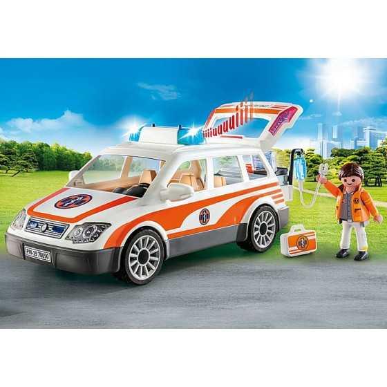PLAYMOBIL 70050 - Voiture et ambulancier