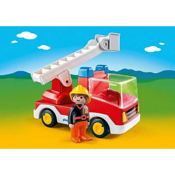 PLAYMOBIL 123 - 6967 Camion de pompier avec échelle pivotante