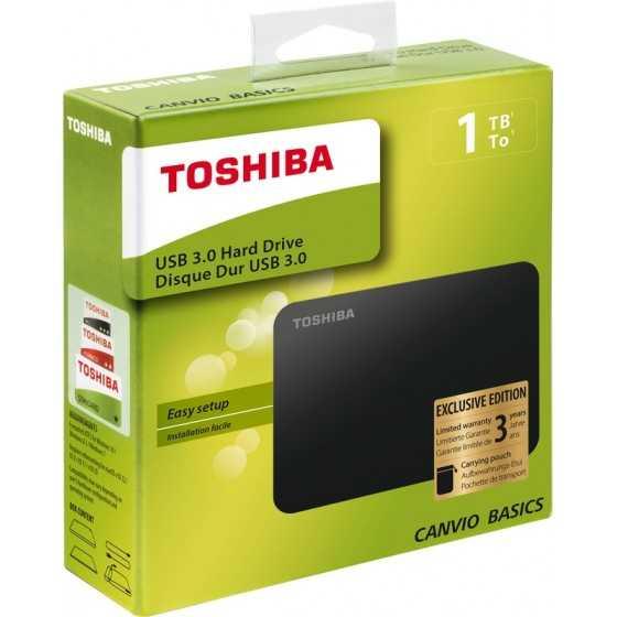 Toshiba Disque Dur CANVIO Basics 1TO Exclu Noir
