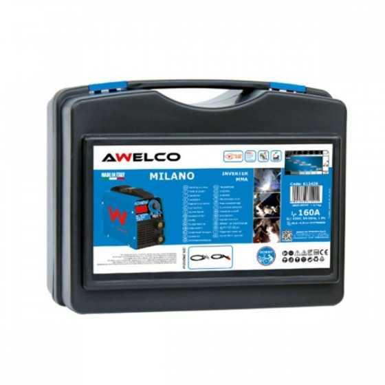 Poste à souder Inverter 160 Ampères Awelco Numérique + Accessoires Mallette MILANO 160