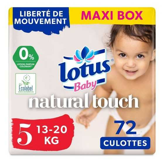 LOTUS - Baby Couches culottes Natural Touch 13-20kg taille 5 x72