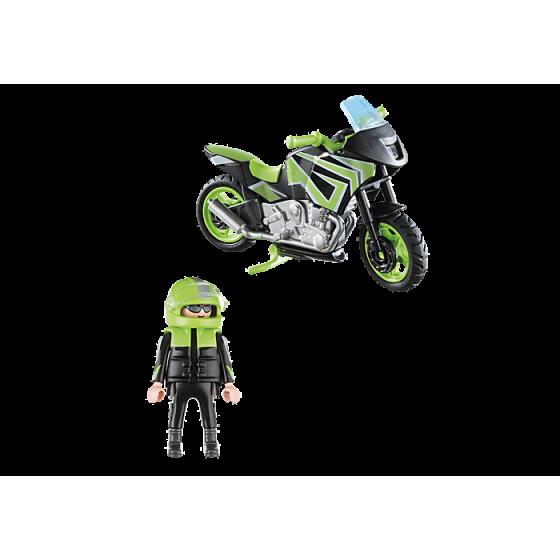 PLAYMOBIL 70204  Pilote et moto