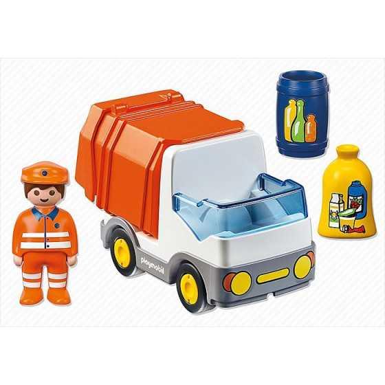 PLAYMOBIL 123 - 6774 Camion poubelle