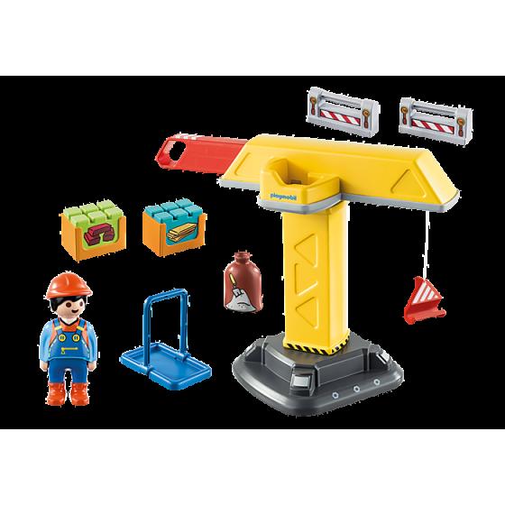 PLAYMOBIL 123 - 70165  Grue de chantier