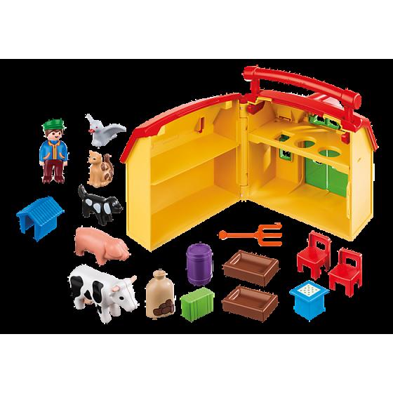 PLAYMOBIL 123 - 6962 Ferme transportable avec animaux