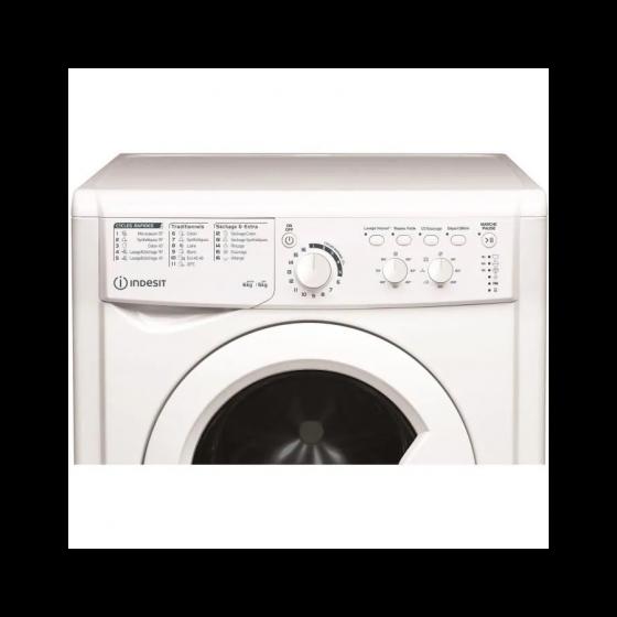 Lave-linge séchant INDESIT EWDC651251WFRN -Lavage 6 kg / Séchage 5 kg - Classe B - 1200 tours/min - Blanc