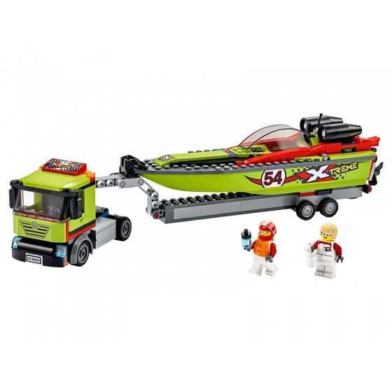 Lego City 60254 Le transport du bateau de course