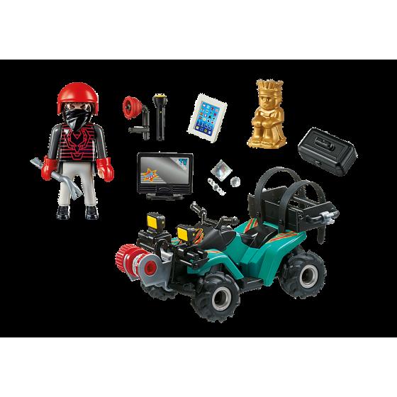 Playmobil 6879 Quad avec treuil et bandit