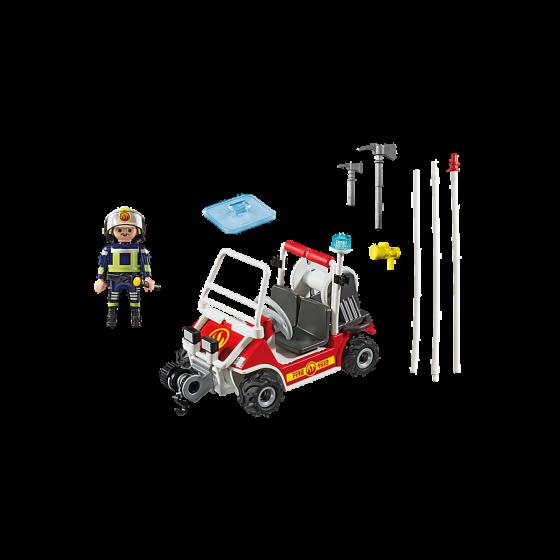 Playmobil 5398 Chef des pompiers avec voiturette