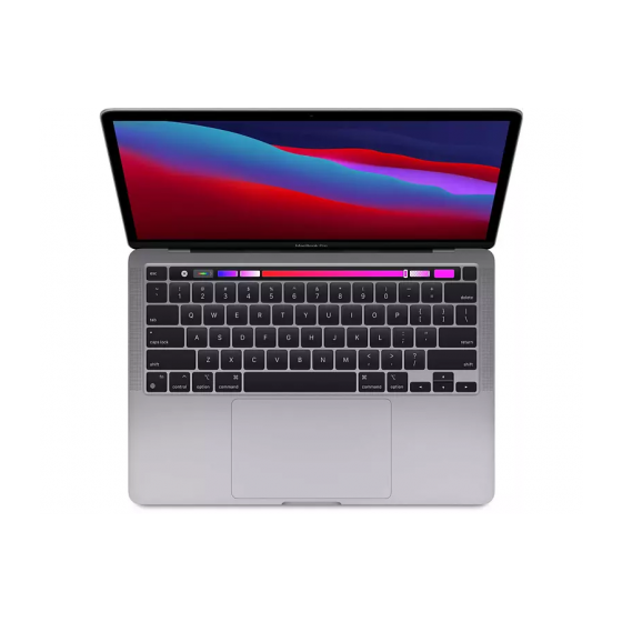 "Apple - 13,3"" MacBook Pro Touch Bar MYD82FN/A - Puce Apple M1 - RAM 8Go - Stockage 256Go - Gris Sidéral - AZERTY"