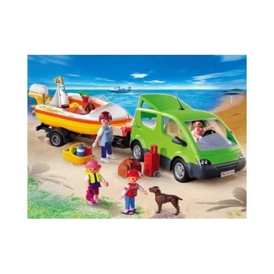 PLAYMOBIL 4144 Voiture familiale avec remorque porte-bateaux