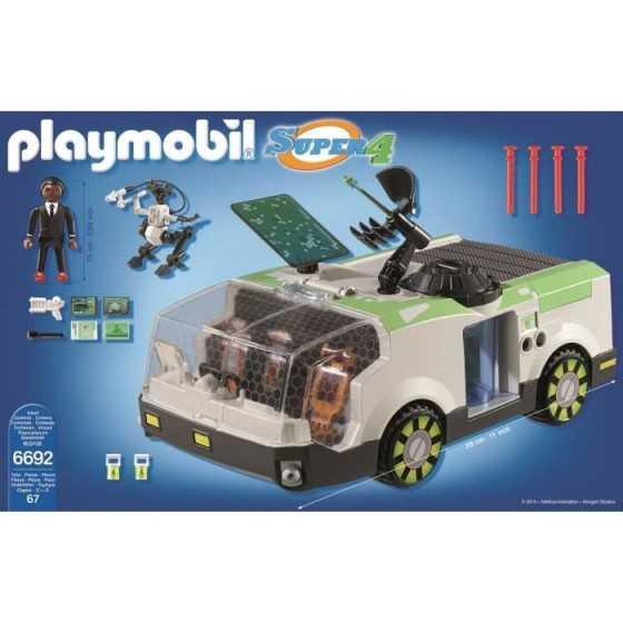 PLAYMOBIL 6692 Super 4 Camion de mission Techno Caméléon Avec agent