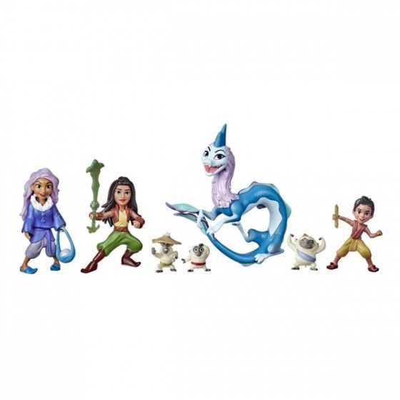 Raya et le dernier dragon - 7 mini figurines Histoire de Kumandra