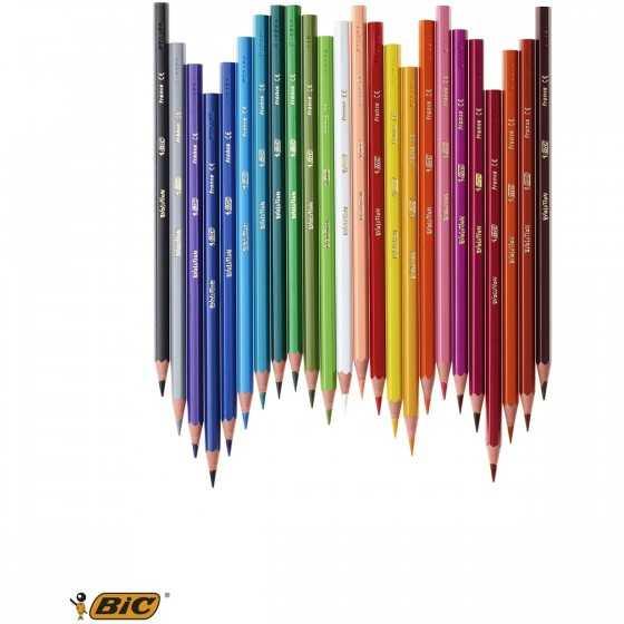 BIC Etui de 24 crayons de couleur Kids Evolution