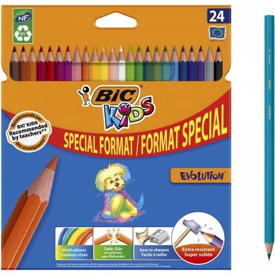 BIC Etui de 24 crayons de...