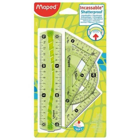 MAPED Kit de traçage 15cm 4 pièces Incassable