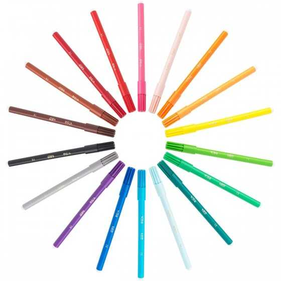 BIC VISA Etui de 18 feutres de coloriage pointe fine