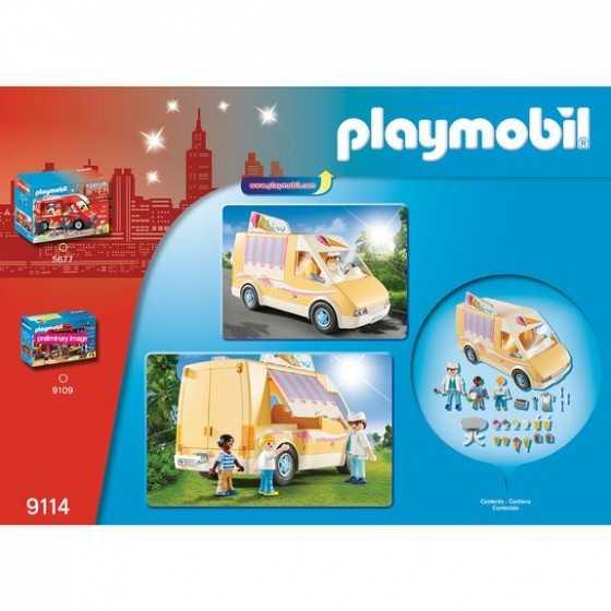 PLAYMOBIL 9114 City Life Camion de crème glacée