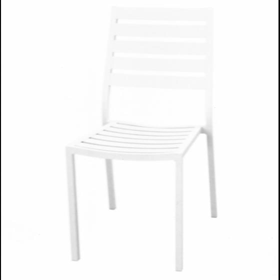 Chaise de jardin alu BLANC