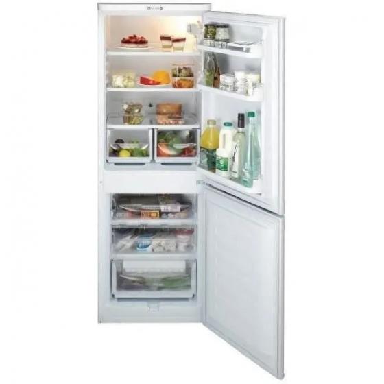 INDESIT NCAA55 - Réfrigérateur congélateur bas - 217L (150+67) Blanc