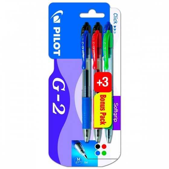 PILOT Lot de 3+3 stylos gel...