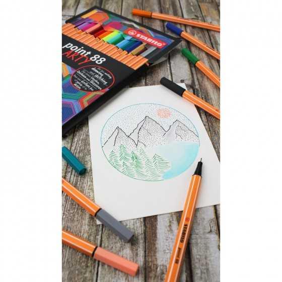 """STABILO Feutre point 88 """"Arty"""" coloris assortis"""