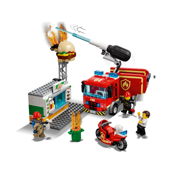 Lego City 60214 L'intervention des pompiers au restaurant de hamburgers