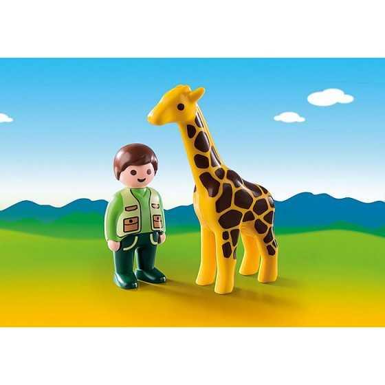 PLAYMOBIL 9380 123 Soigneur avec girafe