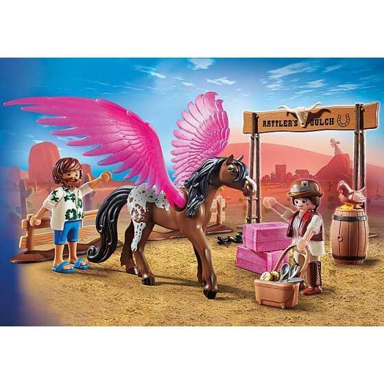 PLAYMOBIL 70074 THE MOVIE Marla et Del avec cheval ailé