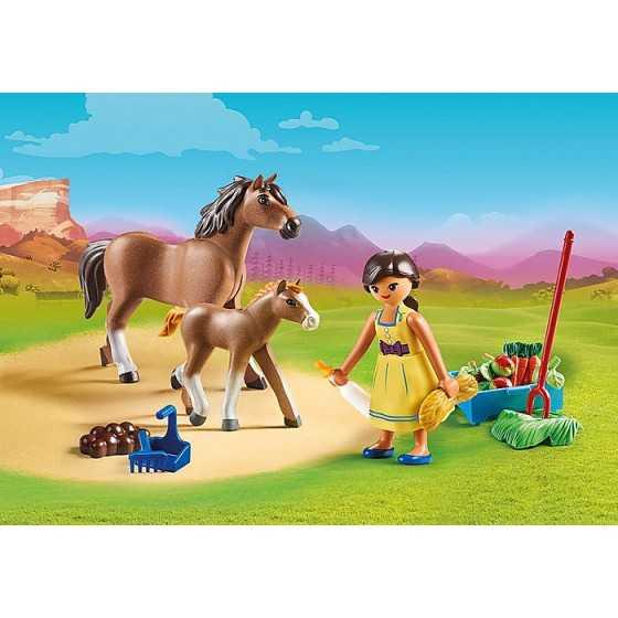 PLAYMOBIL 70122 Apo avec cheval et poulain