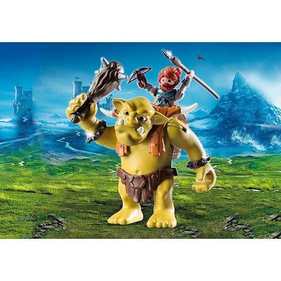 PLAYMOBIL 9343 Troll géant et soldat nain