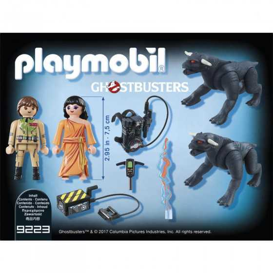 PLAYMOBIL 9223 Ghostbusters™ Venkman et les chiens de la Terre