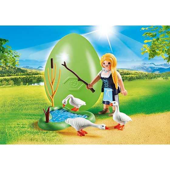 PLAYMOBIL 70083 Jeune fille avec oies