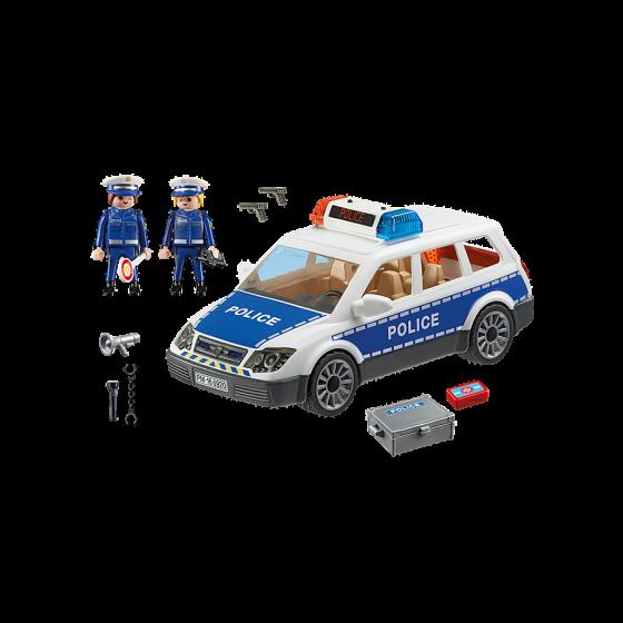 PLAYMOBIL Voiture de policiers avec gyrophare et sirène 6920